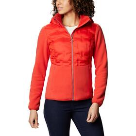 Columbia Delta Ridge Chaqueta Polar Híbrida Cremallera Completa Mujer, bold orange